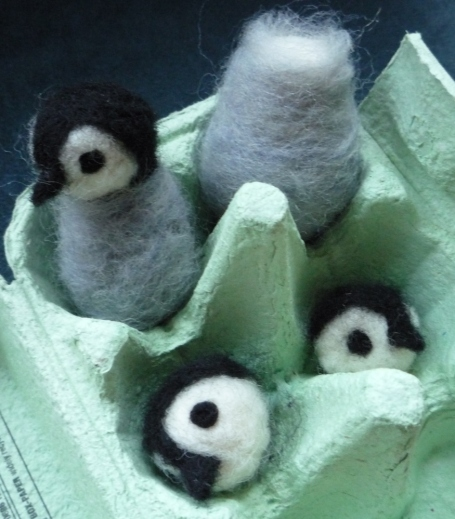 The before picture - they are now three complete penguins with little wings as well.